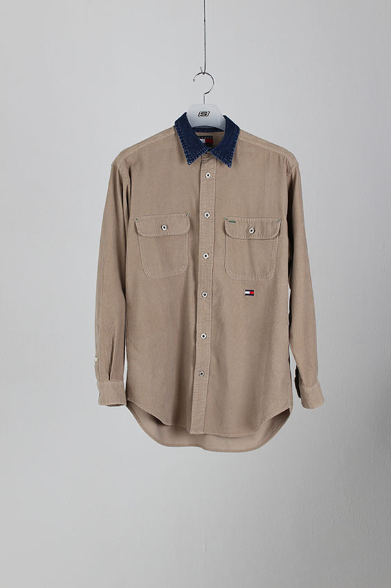 80's Tommy Hlifiger Corduroy Work Shirt