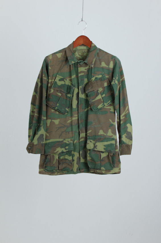60's US Erdl Camouflage Jungle Fatigue Shirt