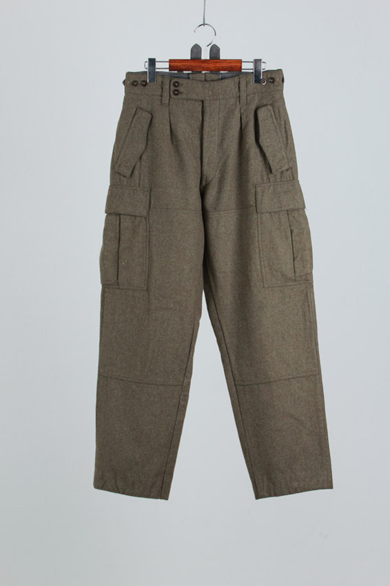 60's Swiss Army Wool Trousers (30-31inch)