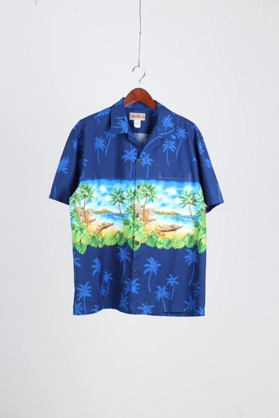 BLUE HAWAII Aloha Shirt (2XL)